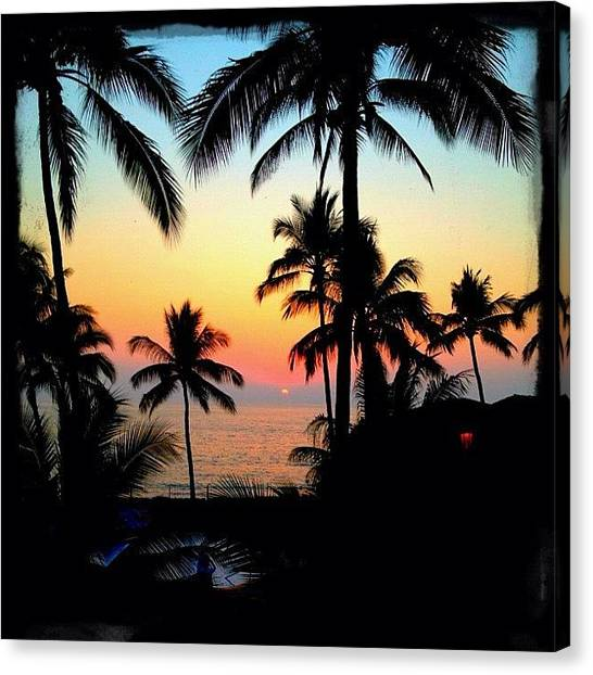 Ocean Sunsets Canvas Print - Mexican Sunset In Los Tules by Natasha Marco