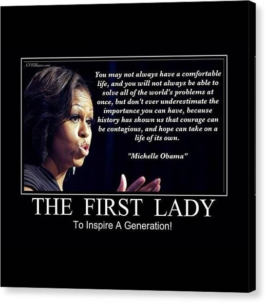 Republican Presidents Canvas Print - Michelle Obama by Nigel Williams