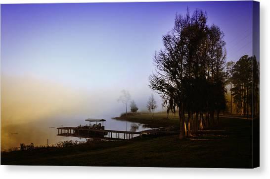 Misty Morning On Lake Jaunita Canvas Print