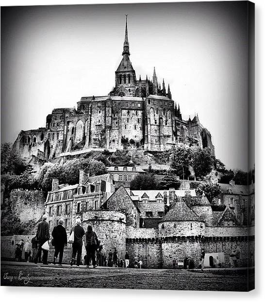 Saints Canvas Print - Mont Saint Michel by Jane Emily