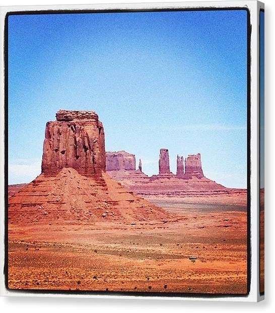 Indian Canvas Print - Monument Valley by Isabel Poulin