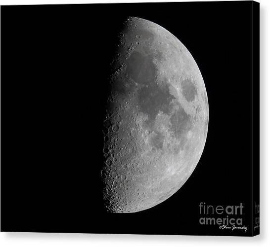 Moon Canvas Print by Steve Javorsky