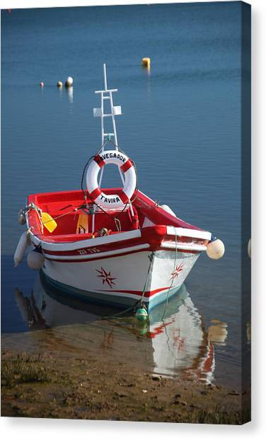 Moored Up Canvas Print by Jez C Self
