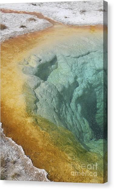 Yellowstone Caldera Canvas Print - Morning Glory Pool Hot Spring, Upper by Richard Roscoe