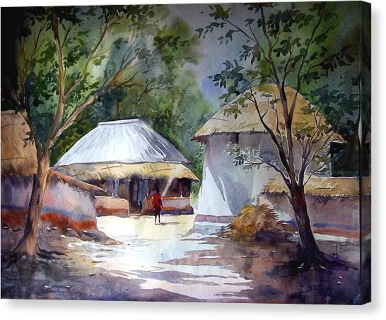 Morning Village Light Canvas Print