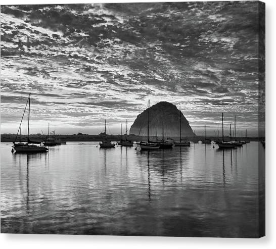 Morro Bay On Fire Canvas Print