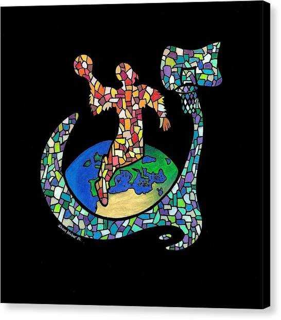 Mosaic Ballin Canvas Print by Steve Weber