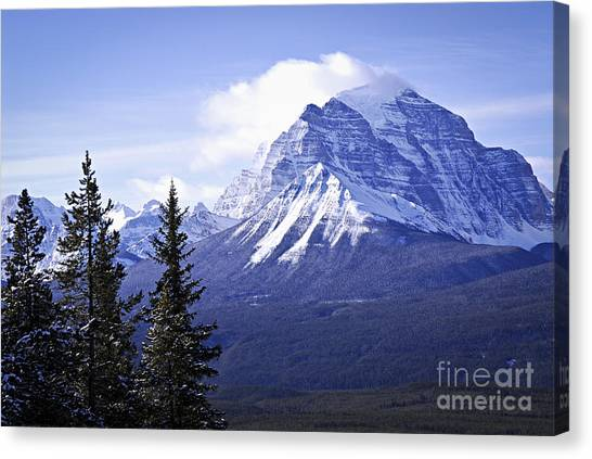 Rocky Mountain Canvas Print - Mountain Landscape by Elena Elisseeva