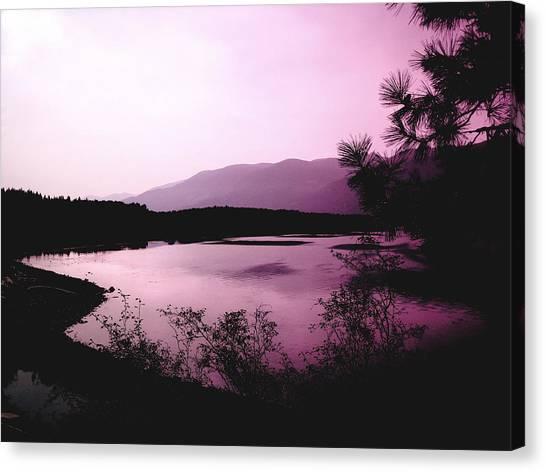 Mountain Twilight Canvas Print by Ann Powell