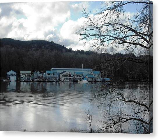 Multnomah Channel Sauvie Island Canvas Print