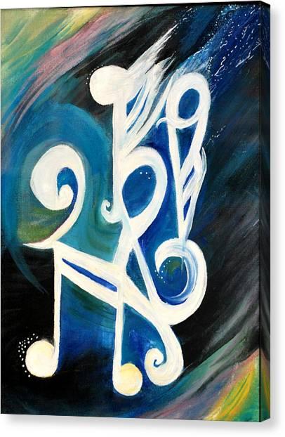 Music Firework Canvas Print by Tifanee  Petaja