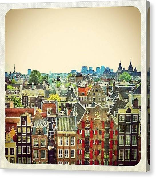 Colourful Canvas Print - My Amsterdam by Marianne Hope