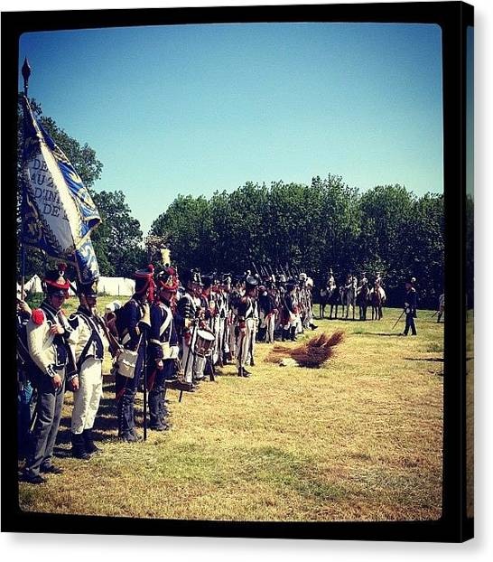 Soldiers Canvas Print - #napoleonic #historical #reenactment by Adam Coleman