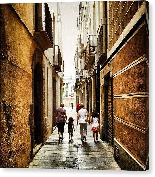 Grandma Canvas Print - Narrow Street by Jordi Codina