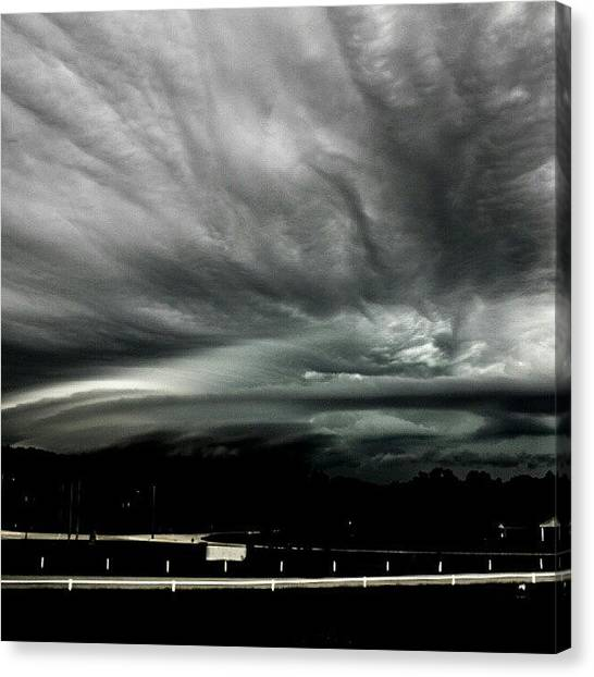 Rainclouds Canvas Print - #nature #cloud #clouds #cloudporn #sky by Dusty Anderson