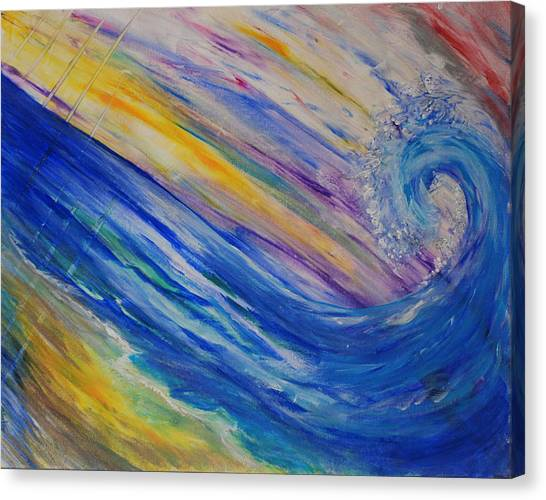 New Wave Canvas Print by Tifanee  Petaja