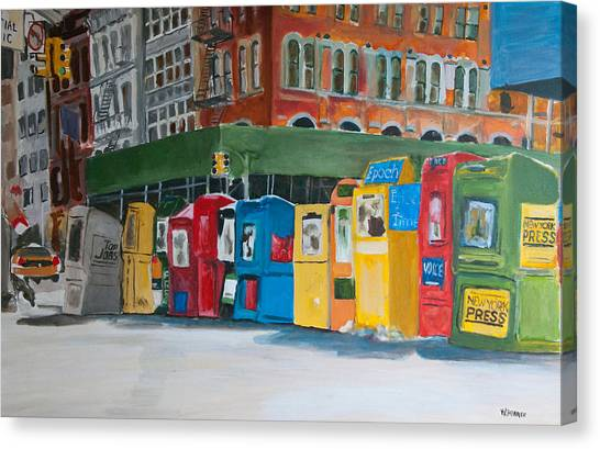 Newsstands Canvas Print by Wayne Pearce