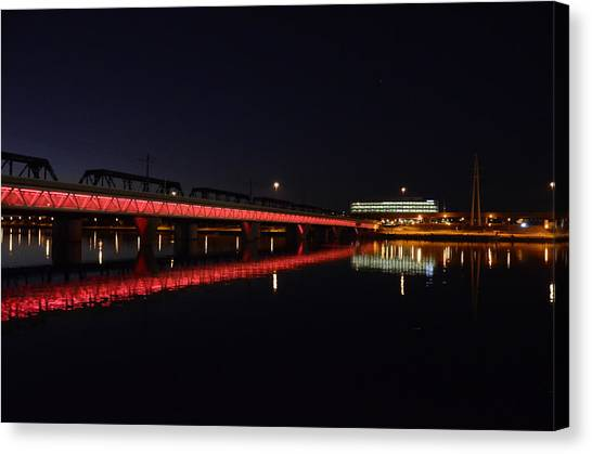 Night Lights Canvas Print by Alberto Sanchez