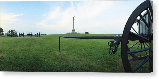 Ny Monument Antietam Canvas Print by Jan W Faul