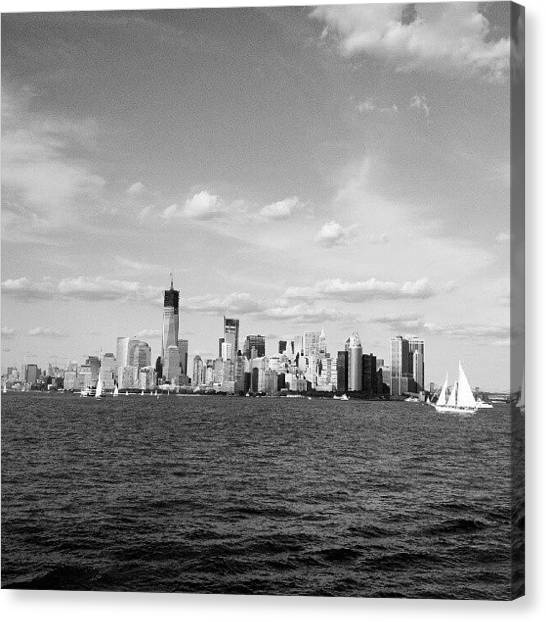 New York City Skyline Canvas Print - Nyc Skyline by Oliver Wintermantel