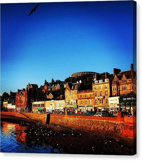Beaches Canvas Print - Oban by Luisa Azzolini