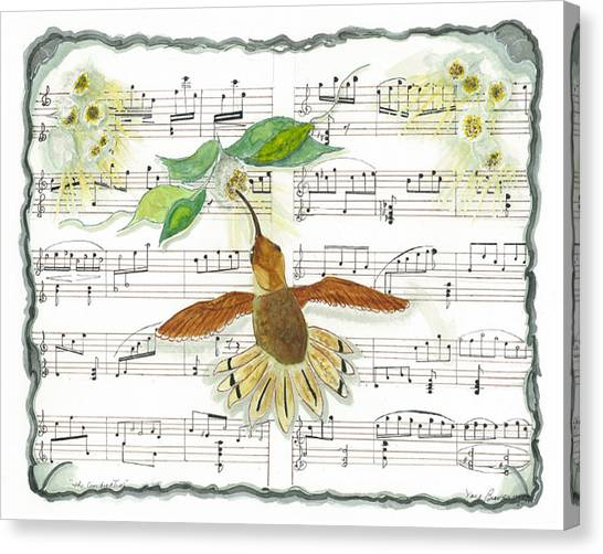1 Of 2 - Natures Symphony-the Conductor Canvas Print