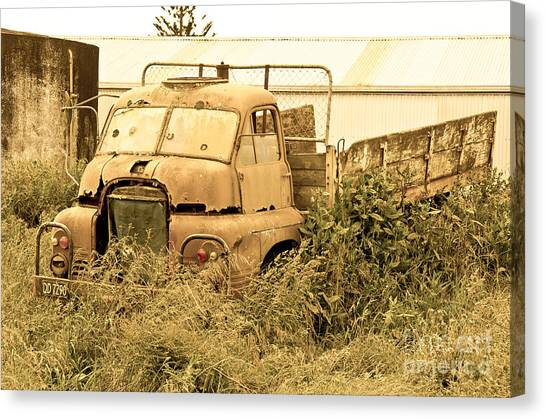 Old Abandoned Truck Canvas Print