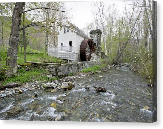 Old Dorset Grist Mill And Stream Canvas Print