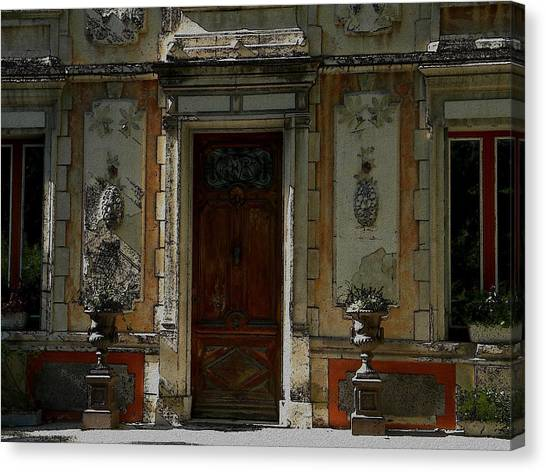 Old Entrance In Provence Canvas Print