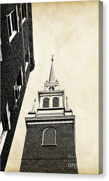 Brick House Canvas Print - Old North Church In Boston by Elena Elisseeva