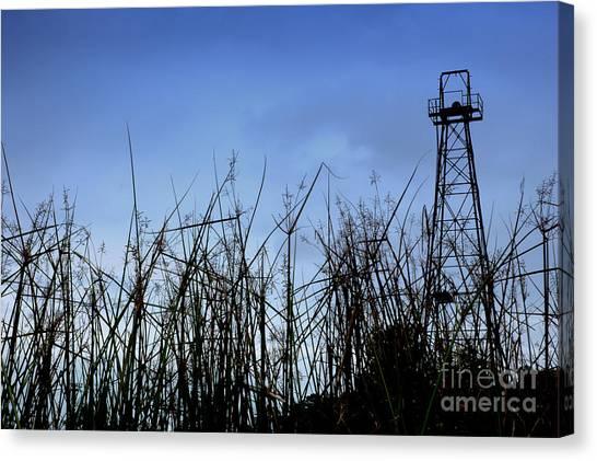 Old Oil Tower Canvas Print by Antoni Halim