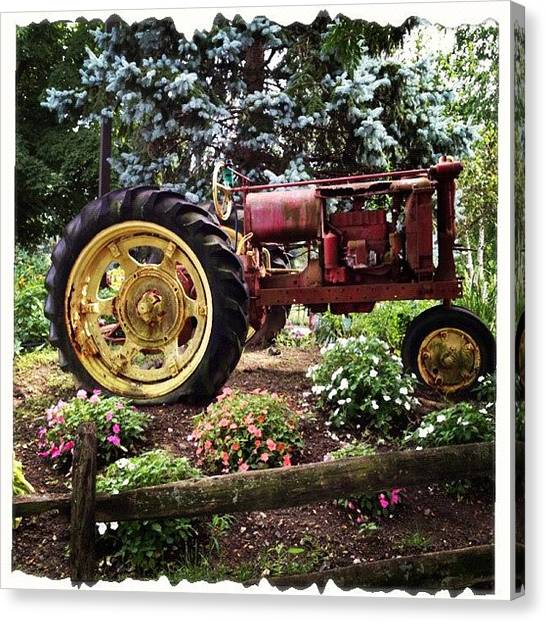 Tractors Canvas Print - #old #tractor #farm #farmequipment by Danielle Mcneil