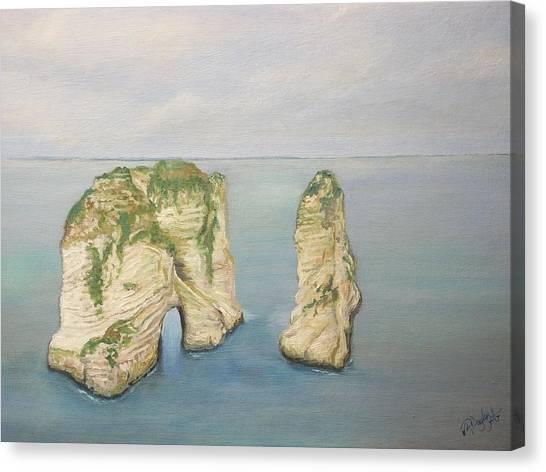 On The Edge Of Lebanon Canvas Print