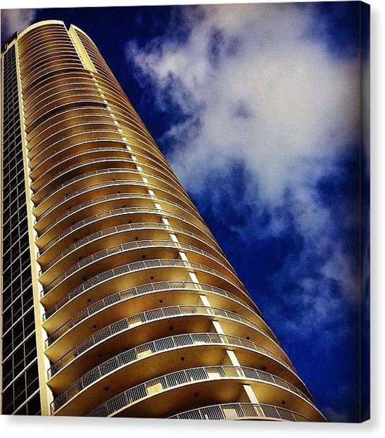 Skylines Canvas Print - Opera Tower - Miami by Joel Lopez