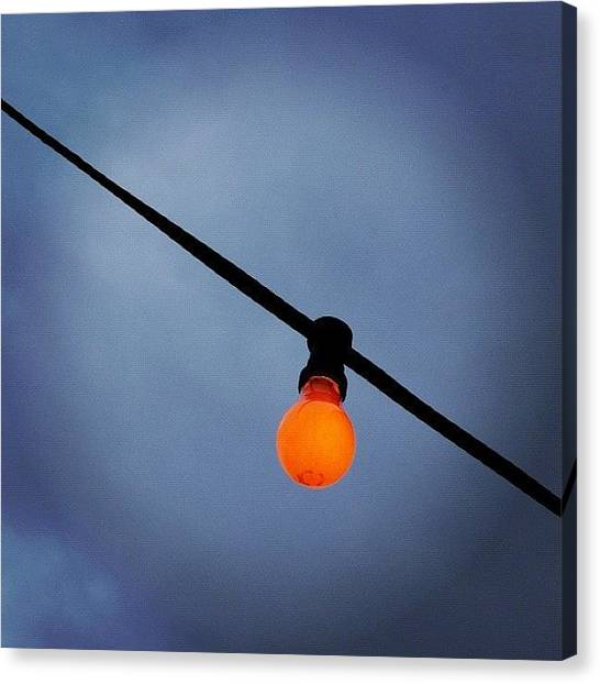 Sky Canvas Print - Orange Light Bulb by Matthias Hauser