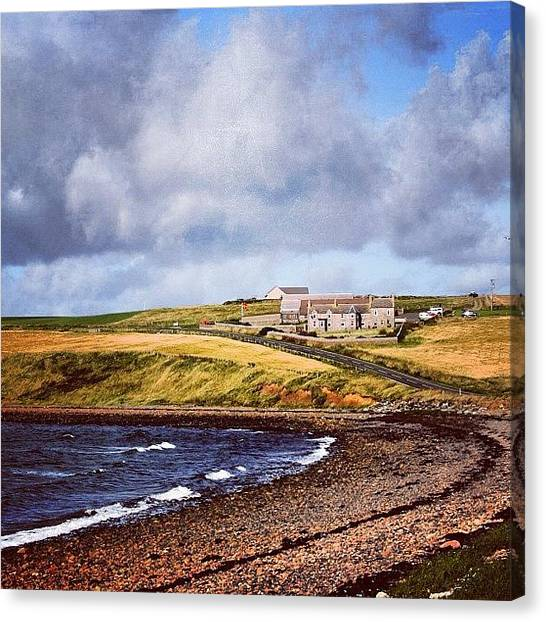 Beaches Canvas Print - #orkney Islands by Luisa Azzolini