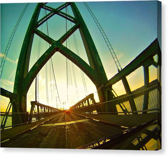 Bridge Canvas Print - Orlean Island Bridge by Jordan Drapeau