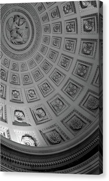 Arch Canvas Print - Pantheon Dome by Sebastian Musial