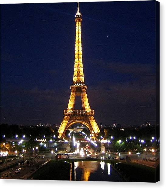 Paris Canvas Print - Paris By Night by Luisa Azzolini