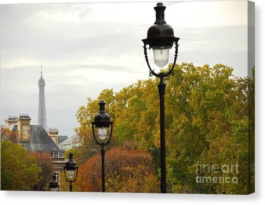 Post Falls Canvas Print - Paris Street by Elena Elisseeva