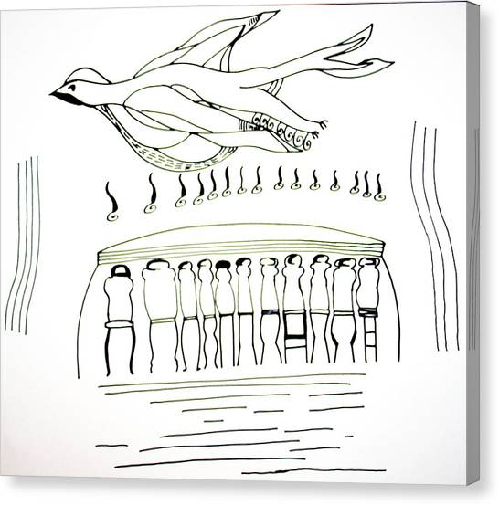 Gloria Canvas Print - Pentecost by Gloria Ssali