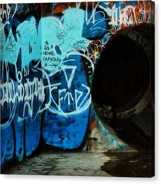 Painters Canvas Print - #photooftheday , #art , #graffiti by Tony Martinez