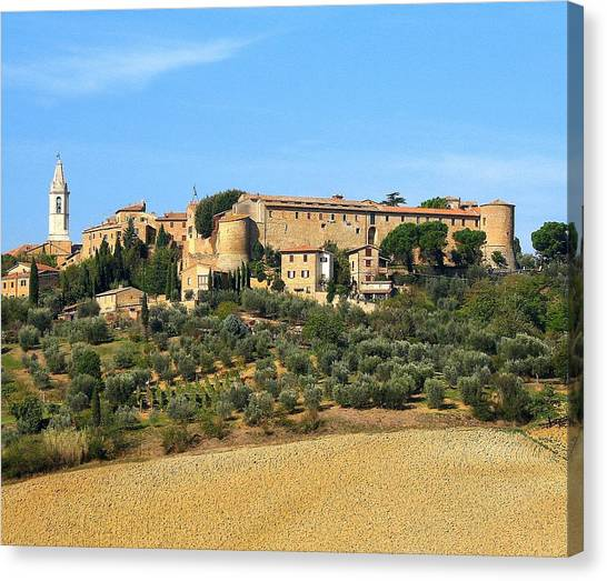 Pienza On The Hill Canvas Print