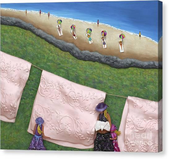 Pink Linen Canvas Print