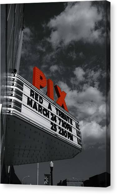 Pix Theatre Canvas Print