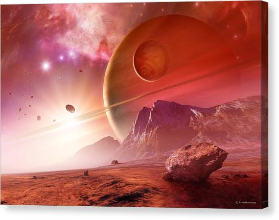 Planets In The Orion Nebula Canvas Print by Detlev Van Ravenswaay