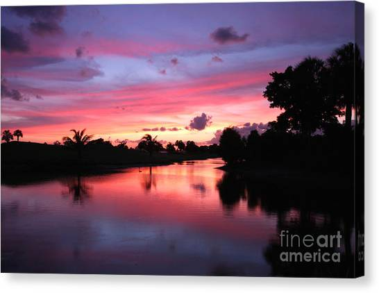Plantation Preserve Sunset Canvas Print