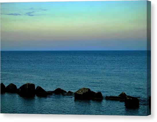 Playas De Noche Canvas Print by Eire Cela