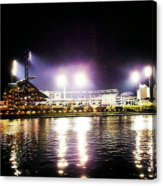 Baseball Teams Canvas Print - Pnc Park by Josh Lang
