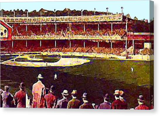 Polo Grounds In New York City 1920's Canvas Print by Dwight Goss